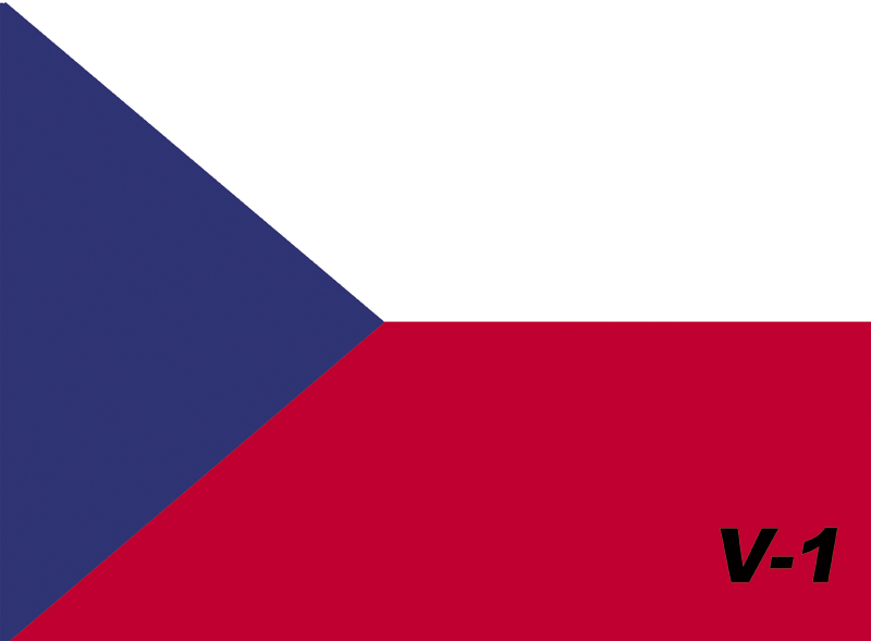 Vlaječka V1 česká velikost: 19x13,5 cm
