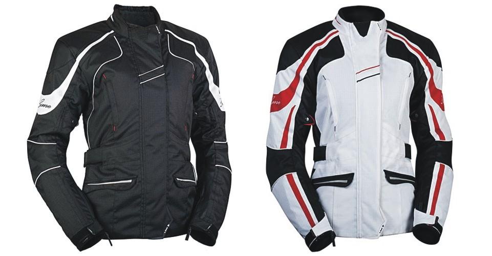 dámská textilní motocyklová bunda Nikita barva: bílá, velikost: 42