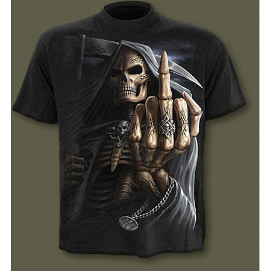 tričko s motivem Bone Finger