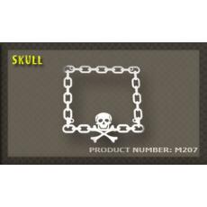 rámeček na SPZ 07 Skull