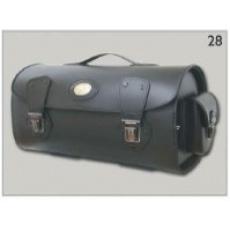 Kufr na nosič za opěrku spolujezdce kožený Válec 28