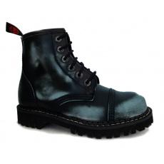 boty kožené KMM 6 dírkové černé/jeans