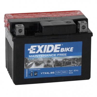 baterie bezúdržbová YTX4L-BS, 12V, 3Ah