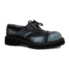 boty kožené KMM 3 dírkové černé/jeans