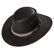kožený westernový klobouk MILES
