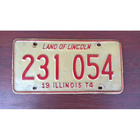 originál použitá SPZ Illinois USA