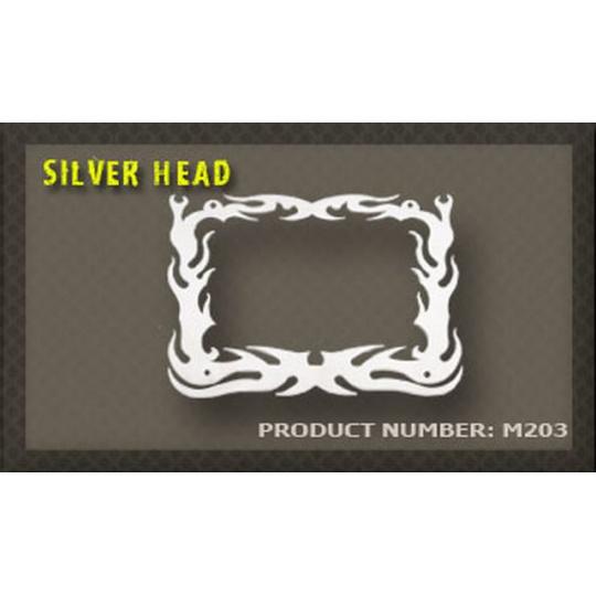 rámeček na SPZ 03 Silver head
