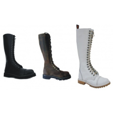 boty kožené KMM 20 dírkové jednobarevné