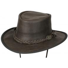 kožený klobouk Saddler