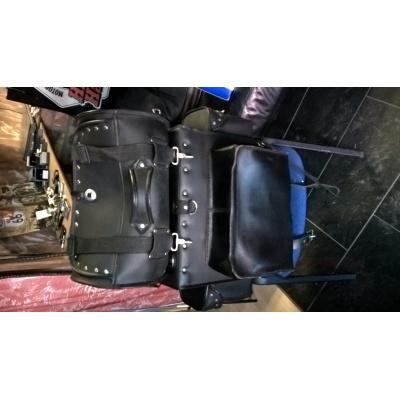 kožený kufr+válec