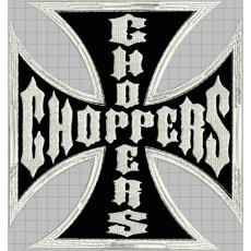 nášivka kříž choppers