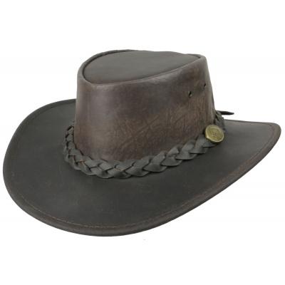 kožený klobouk Kangaroo Squashy