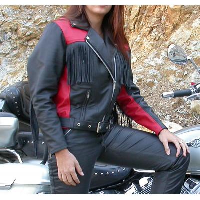 bunda dámská F-D2 kožená na chopper