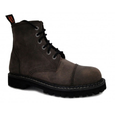 boty kožené KMM 6 dírkové olivové