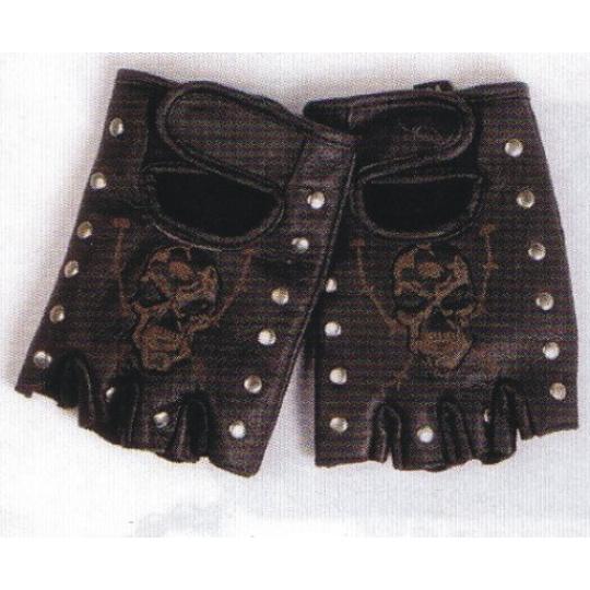 rukavice Gortrud 2374 bezprsté kožené s lebkou