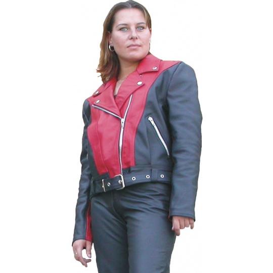 bunda dámská F-H1 kožená na chopper