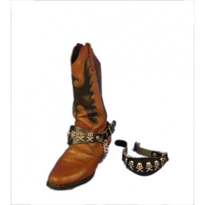 Ozdobné řemínky na boty B4 lebky