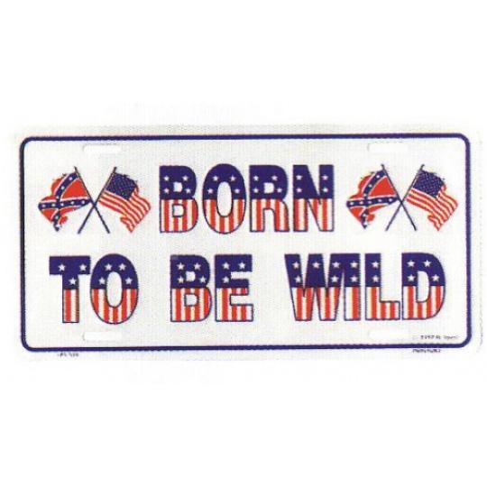 hliníková značka USA BORN TO BE WILD