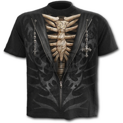 tričko s motivem Unzipped