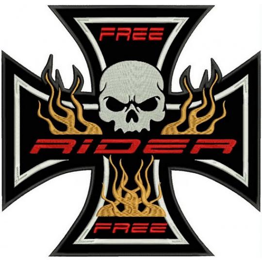 nášivka kříž free rider