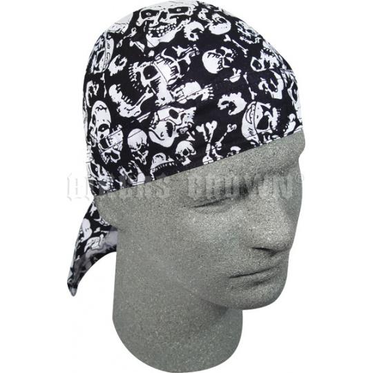 šátek na hlavu (čepička) lebky