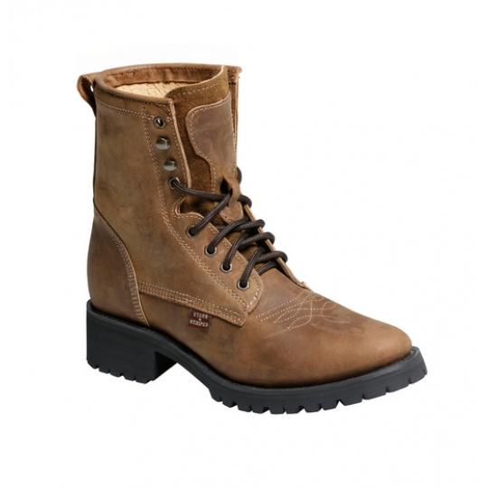 šněrovací westernové boty WB-34