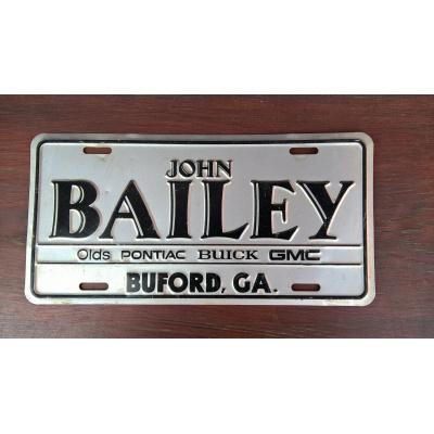 originál použitá SPZ John Bailey USA