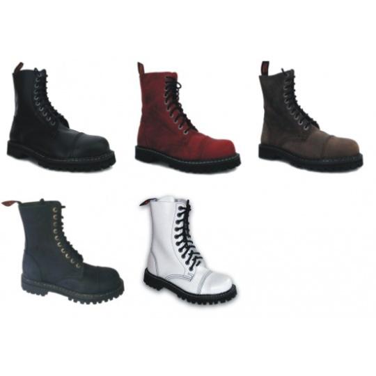 boty kožené KMM 10 dírkové jednobarevné