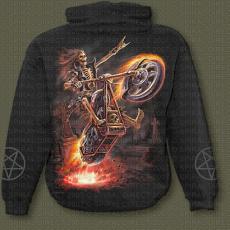 mikina s motivem Hell Rider