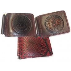 kožená peněženka na bankovky - dolarovka