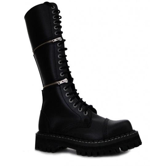 boty kožené KMM 20 dírkové variabilní