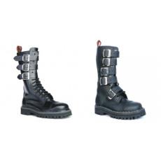 boty kožené KMM 15 dírkové s přezkami