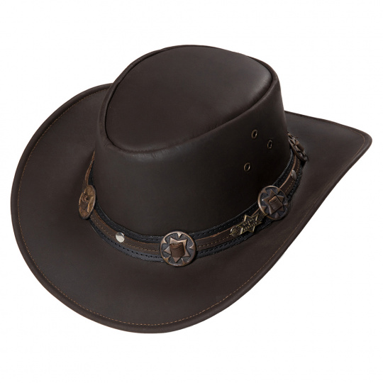 kožený westernový klobouk HUCK
