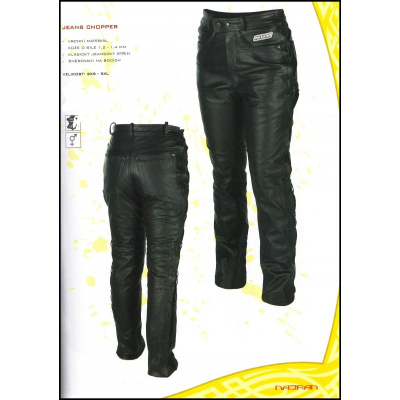 kalhoty 786-1528 Jeans Chopper (šněrování na boku) kožené