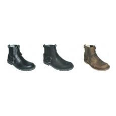 boty kožené KMM moto nízké jednobarevné