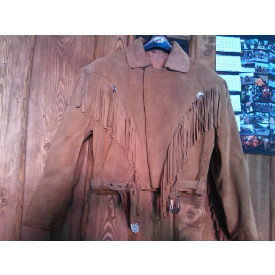 dámská kožená bunda s třásněmi