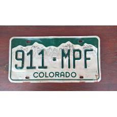 originál použitá SPZ Colorado USA