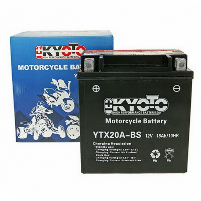 baterie bezúdržbová YTX20A-BS, 12V, 18Ah