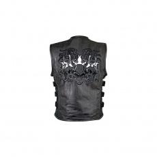 Vesta Flaming Skuls zipper