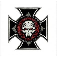 nášivka kříž s ornamentem