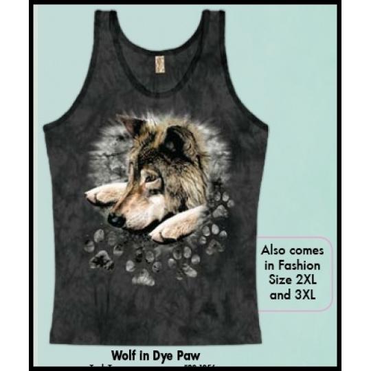 tričko s motivem Wolf in Dye Paw