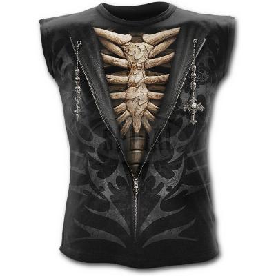 tričko bez rukávů s motivem Unzipped