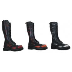 boty kožené KMM 20 dírkové stíraná barva