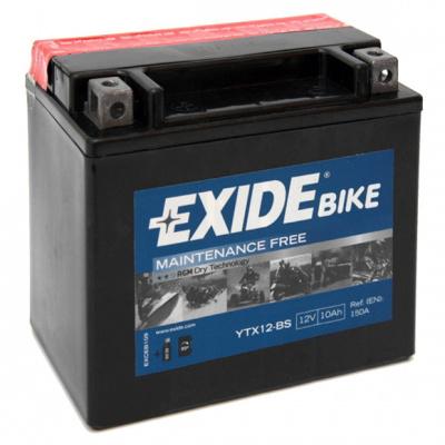 baterie bezúdržbová YTX12-BS, 12V, 10Ah