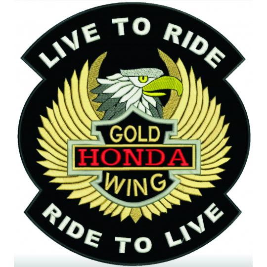 nášivka Live to ride honda GoldWing