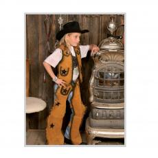 dětský westernový set vesta+chapsy