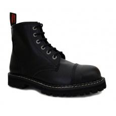 boty kožené KMM 6 dírkové černé