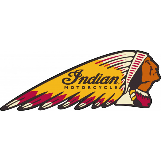 nášivka Indian motorcycle hlava