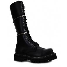 boty kožené KMM 20 dírkové černé s možností změny výšky