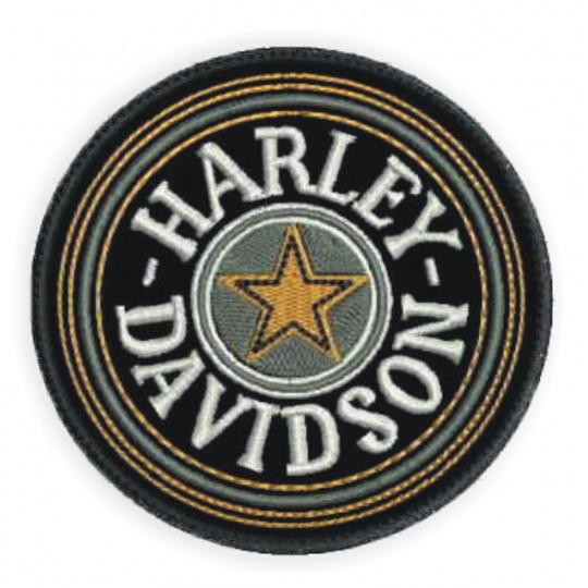 nášivka Harley-Davidson kolečko